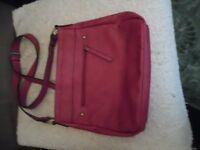 Red Adjustable Shoulder Strap Handbag