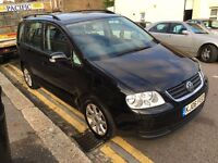 VW VOLKSWAGEN TOURAN SE 1.6 FSI AUTOMATIC BLACK 2006 FULL HISTORY AVERAGE MILE MOT HISTORY 7 SEATER