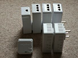 Various Devolo Powerline (power-line) Ethernet and WiFi adaptors from £10 each or £150 for whole kit
