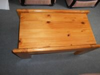 Solid antique pine coffee table.