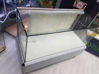 Shop counters x 3 glass display cabinet