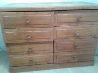 Filing cabinet - 4 drawer in solid oak