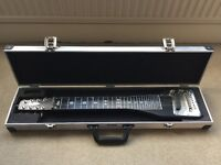 Harley Benton 8 String Lap Steel / Lapsteel Slider Guitar and Hard Case