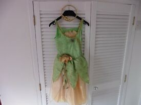 Princess Tiana dress with tiara age 3-4 yrs