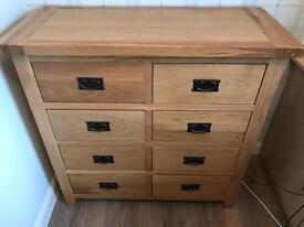 Solid Oak chest of draws OPEN TO OFFERS