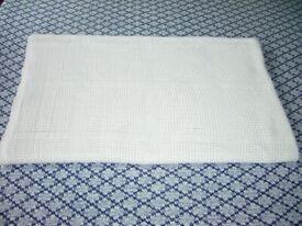 Mamas & Papas Cream Cotton Cot/Cotbed Cellular Blanket, EXCELLENT CONDITION, £4