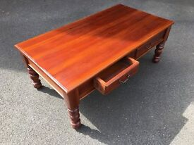 Mahogany Coffee Table with two pull out draws