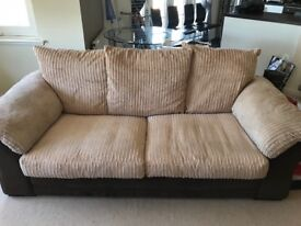Sofa, armchair and large storage footstool