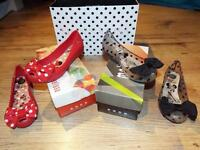 Black and Red Melissa Minnie Shoes UK 1/EUR 33