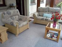 3-piece conservatory furniture - excellent condition - last chance to buy!