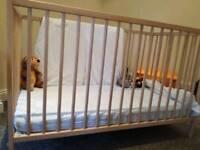 Ikea cot + mattress. Used 2 months.