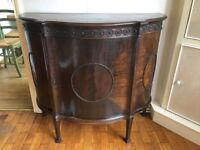 Antique side cabinet/drinks cabinet, solid wood - 19th century/early 20th