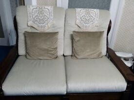 SOLID OAK WOOD HAND MADE SOFA SUITE