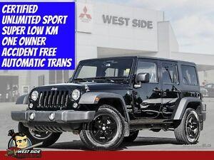 """2015 Jeep Wrangler Unlimited Sport """"10 Year-200,000 km Warranty"""