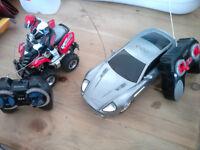 remote control 007 Aston Martin Vanquish car and remote control quad + rider