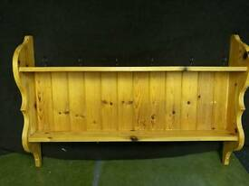 Pine long shelf unit