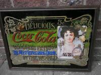 Retro Large Coca Cola pub advertising mirror.