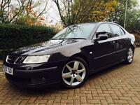 Saab 9-3 1.9 TiD Vector Sport Airflow 4dr #BLACK #FULL SERVICE HISTORY #MOT APRIL 17 #6 SPEED