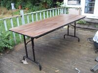 MARKET STALL TYPE TABLE 6ft x 2ft 6inches MAY BE ABLE TO DELIVER