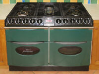 Aga Masterchef Range Cooker. 100cm wide. Dual Fuel (LPG / Electric). Used and in good working order