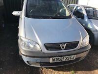 Vauxhall Zafira 1.8 petrol manual breaking for parts / spares - bonnet bumper lights doors ect