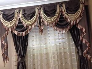 Fancy Curtains with Valance