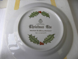 Royal Wocsester 1979 Christmas Collectors Plate No. 1