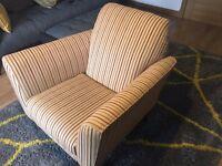 'Next' Chair - Beige with Orange Stripes