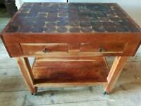 BUTCHERS BLOCK KITCHEN ISLAND/TABLE