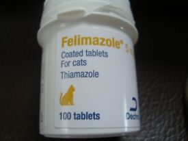 82 5mg Felimazole (Thiamazole) Pills For Cats With Over-Active Thyroid