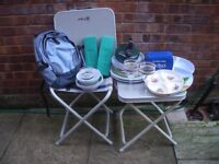ASSORTED CAMPING PLATES ETC FOR SALE AS ONE LOT