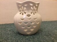 Owl candle holder and vase