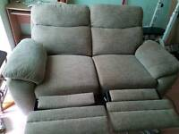 reclinable sofa 2 x seats