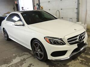 2015 Mercedes-Benz C-Class C300 4MATIC, NAVI, LEATHER, BACK UP C
