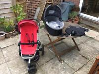Quinny Buzz buggy, carrycot, raincovers, car seat adapters