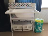 Baby bath nappy change organiser