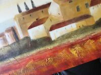 Beautiful canvas picture, Italy Tuscany, 50cm x150cm, textured finish