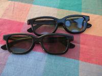 2x 3D cinema glasses