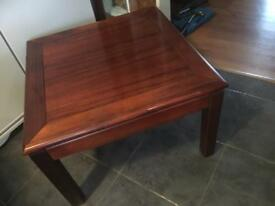 SQUARE DARK WOOD COFFEE TABLE - CAN DELIVER