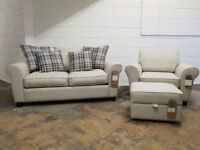 FABB SOFAS EDIT FABRIC SUITE 2 SEATER SOFABED, ARMCHAIR & STORAGE FOOTSTOOL DELIVER AVAILABLE