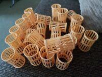 23 40mm plastic hair rollers