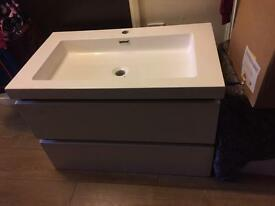 Wall hung sink new but small mark as seen in pic cost £649