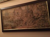 tapestry with frame