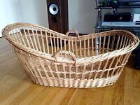 Vintage Wicker Moses Basket / Crib