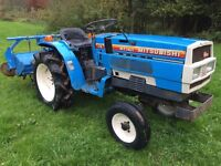 Mitsubishi MT1401 2WD Compact Tractor with Rotavator ONLY 750 HOURS (other attachments available)