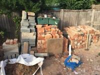 Bricks, breeze blocks and concrete blocks