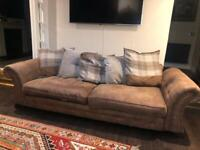 2, 3 seater brown sofas