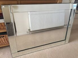 Bevelled contemporary Wall Mirror