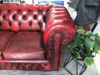 Vintage 3 seat chesterfield sofa