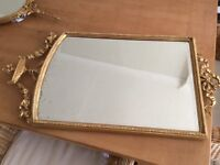 Antique Edwardian Gilt Mirror